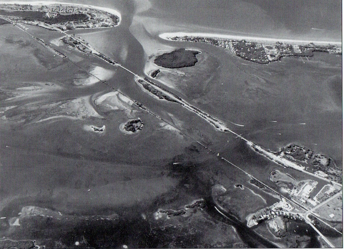The 1.7 mil Boca Grande Causeway and it's swing bridge for boats traveling the Intracoastal Waterway was built in 1957-58, allowing automobile traffic direct from the mainland at Placida to Gasparilla Island.