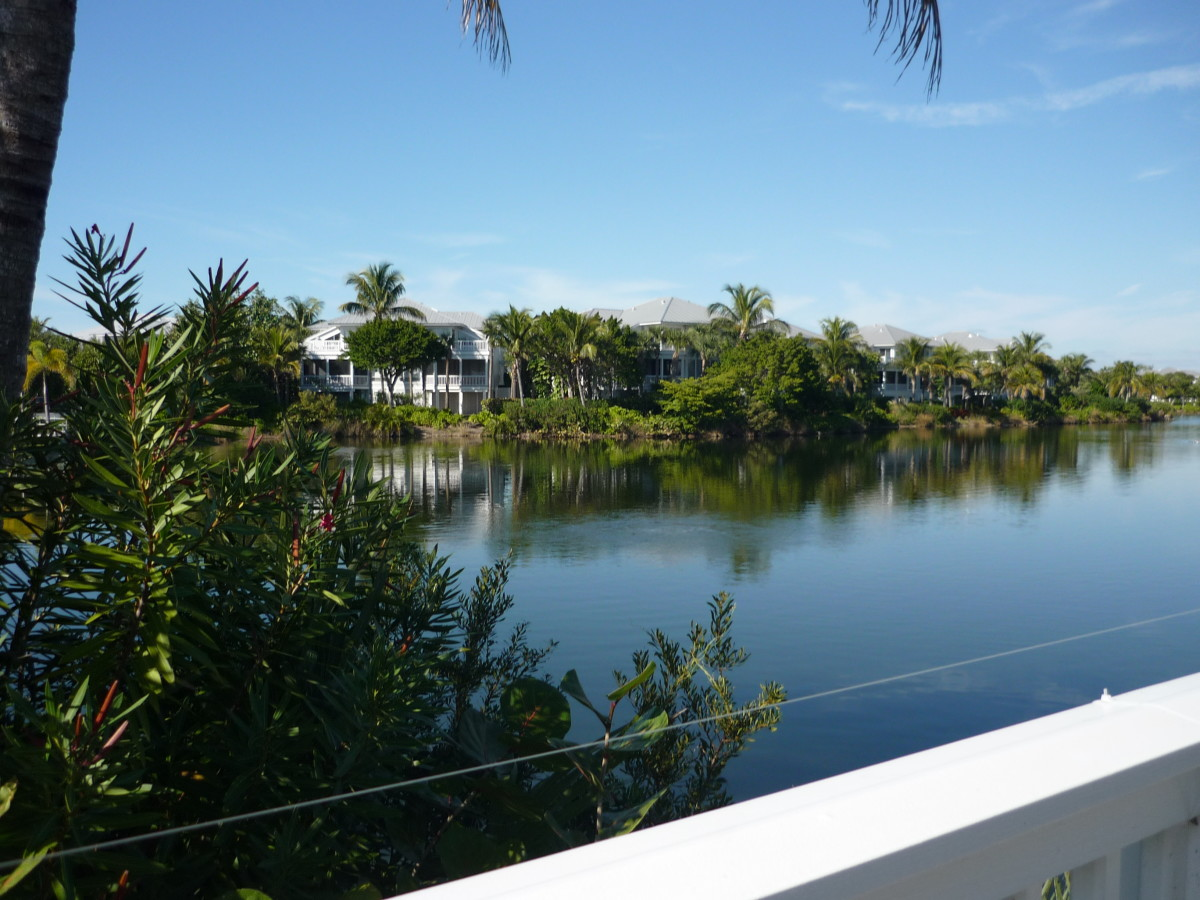 Luxury condos -- seasonal vacation homes on the lagoon. Got a fat checking account? -- many are for sale.