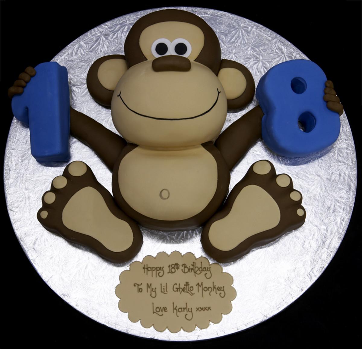 Easy Monkey Face Cake