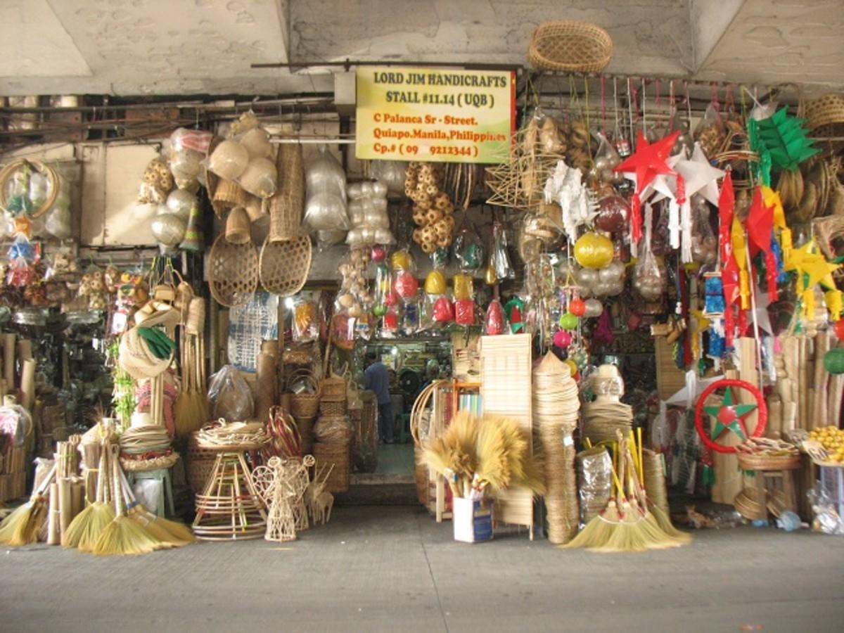 "Philippine Souvenirs and Handicrafts ""under the bridge"""