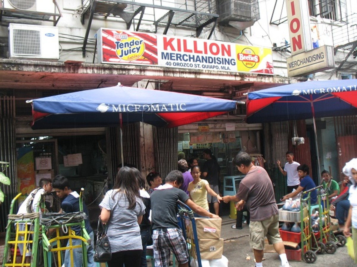 Killion and the Spices Store along Orosco St. at the periphery of Quinta Market