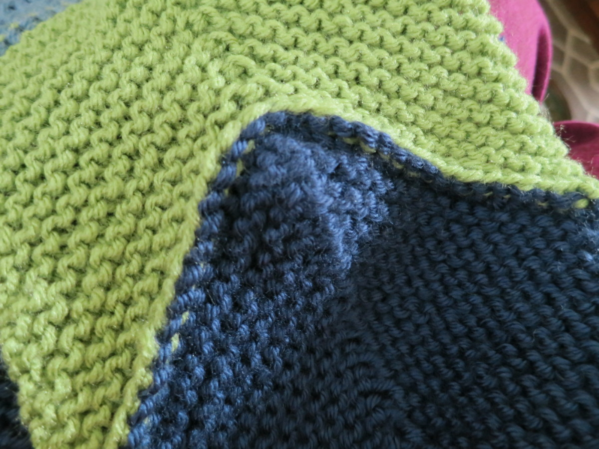 underside of the join using three needle bind off method