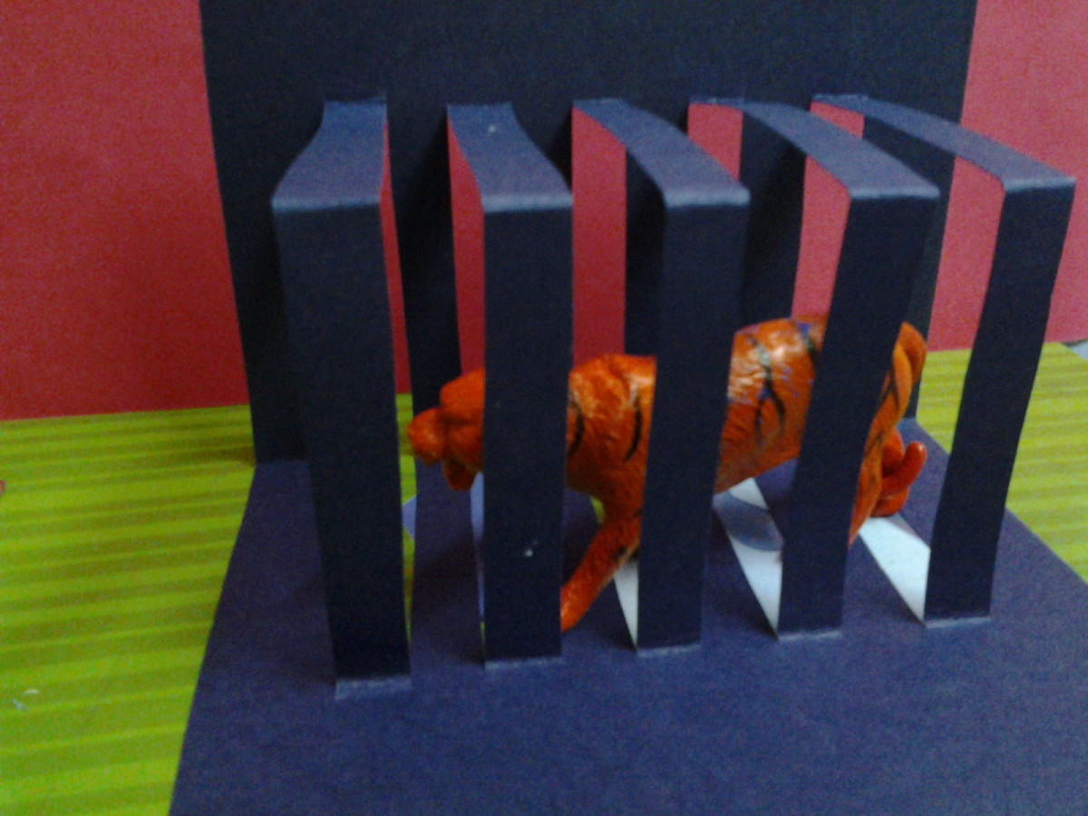 How to make simple kirigami craft for kids?