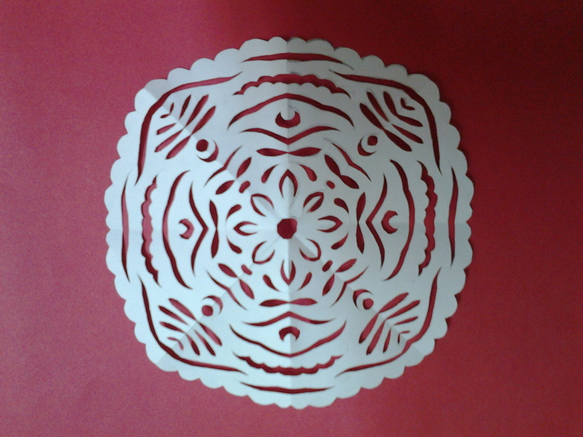 Paper snowflake - a very randomly created design