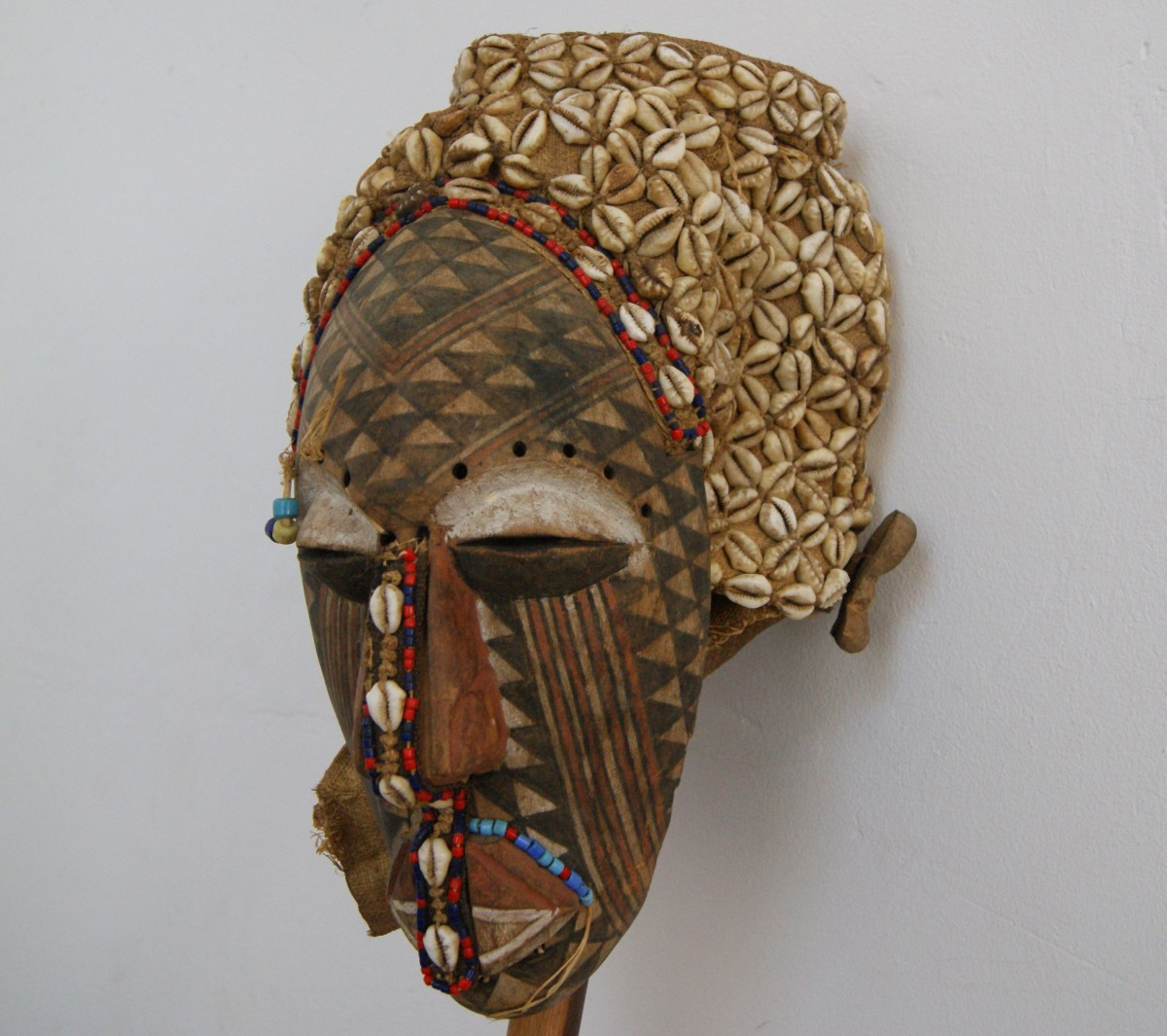 Ancient Ceremonial Mask with Cowries