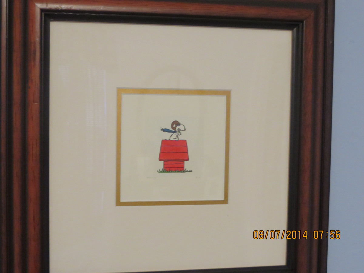 "SNOOPY ""THE RED BARON"" - UNITED FEATURES SYNDICATE: Etching in color on wove paper/2004/hand signed"