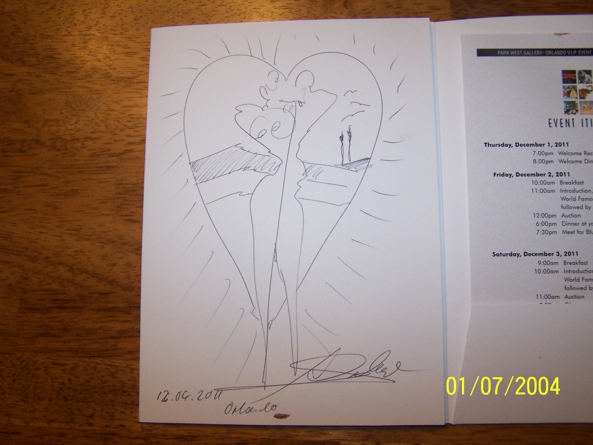 GOCKEL'S AUTOGRAPH ON PROGRAM (He never stopped drawing through the whole three day event)