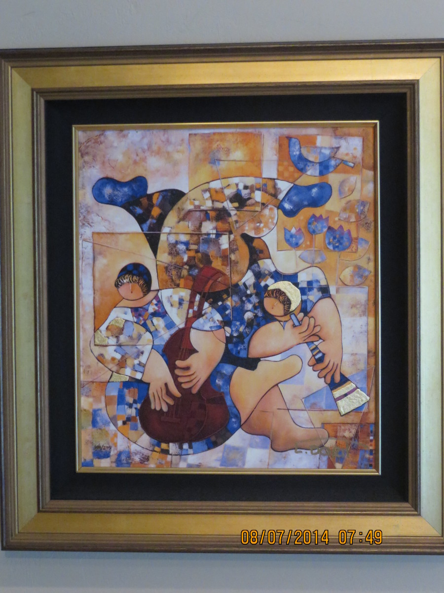 """MUSIC IN HARMONY"", DORIT LEVI, Giclee on canvas/2011: 201102-Princess Island"