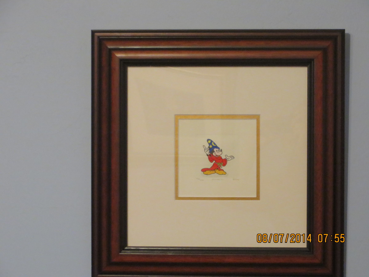 MICKEY MOUSE WIZARD (FANTASIA) - WALT DISNEY STUDIOS: Etching in color on wove paper/2004/hand signed