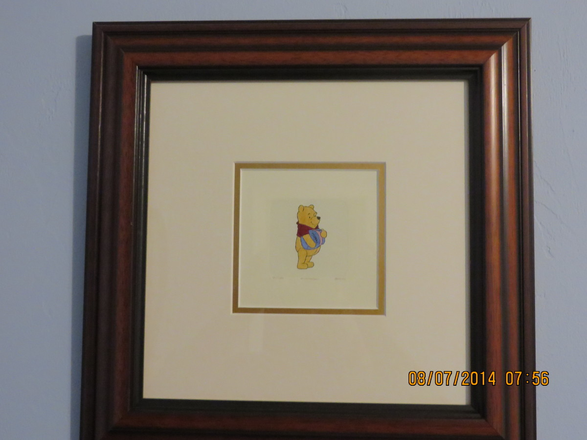 WINNIE THE POOH - WALT DISNEY STUDIOS: Etching in color on wove paper/2004/hand signed