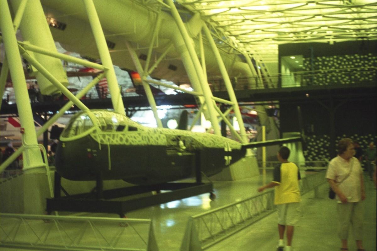 Restored fuselage on display at the Udvar-Hazy Center, Dulles, VA, 2005.