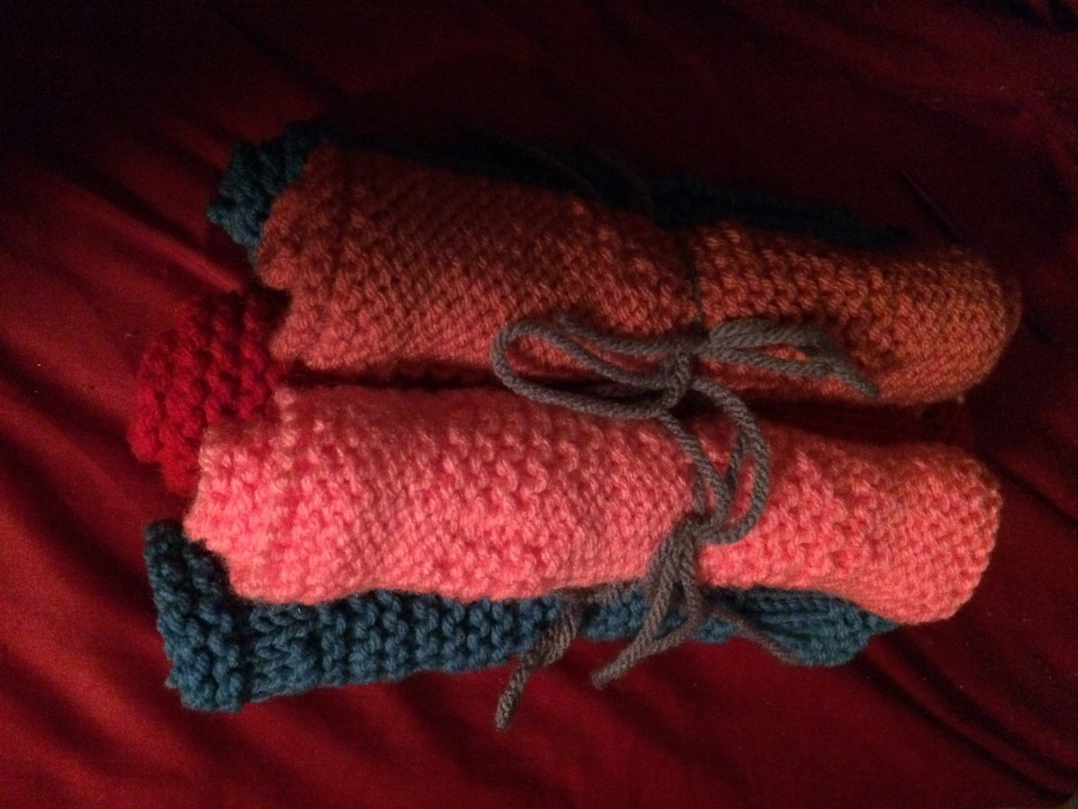 Consider wrapping dishcloths up beautifully!