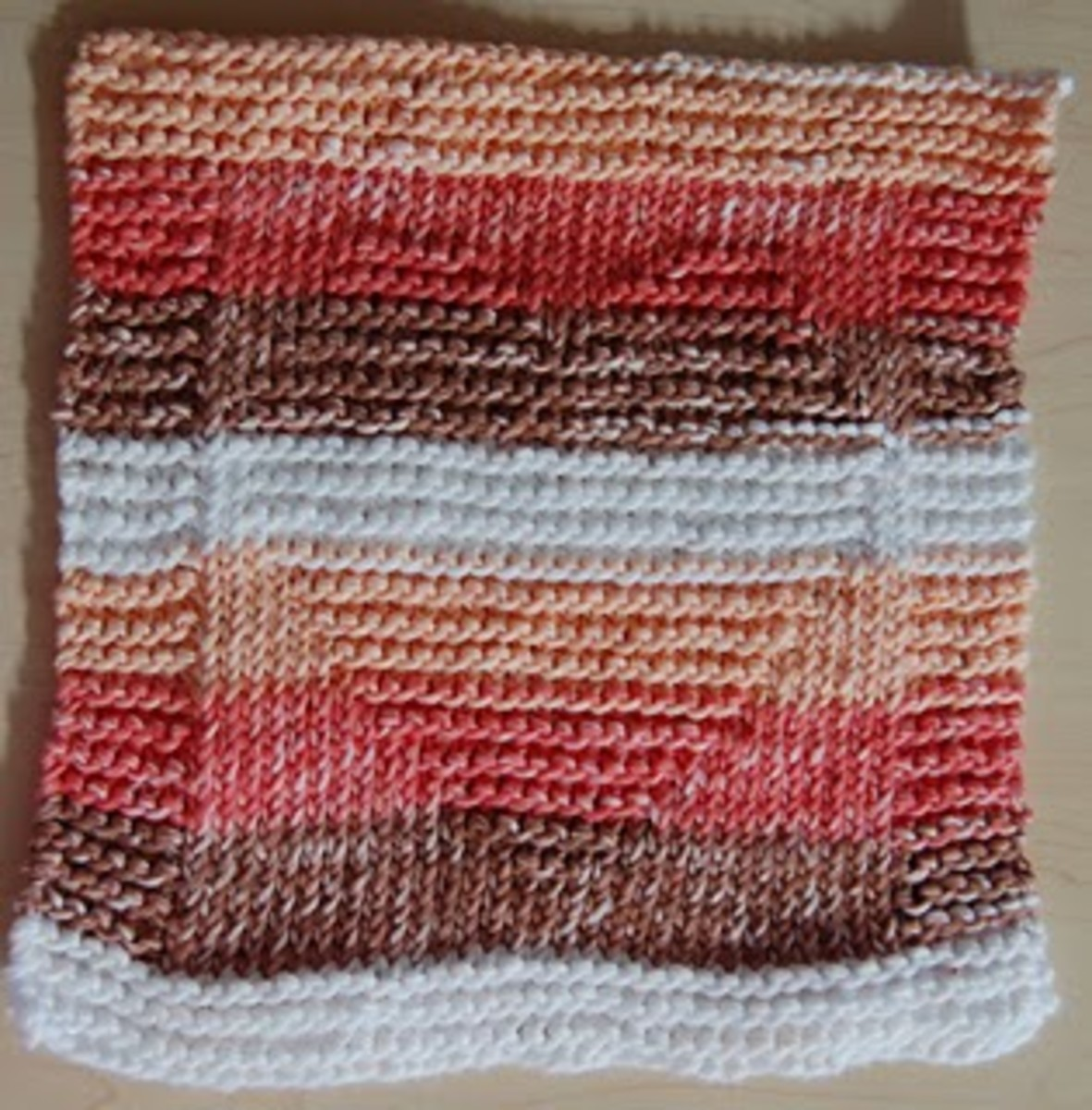 I love this knitted dishcloth of a heart because it is simple. I would however only use one color rather than multiple colors.