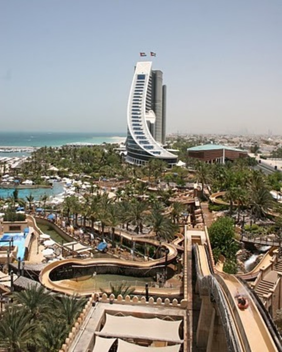 View from the top of the Jumeirah Scarer at Wild Wadi