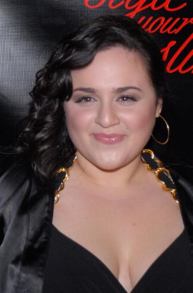 Actress Nikki Blonsky at the Slim-Fast Fashion Show