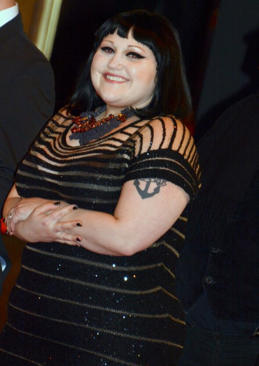 Beth Ditto in Paris at the César Awards ceremony, February 2014