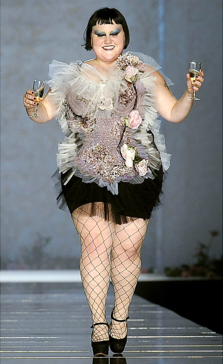 Beth Ditto, size 28, rocks the runway for Jean-Paul Gaultier for Fashion Week in Paris