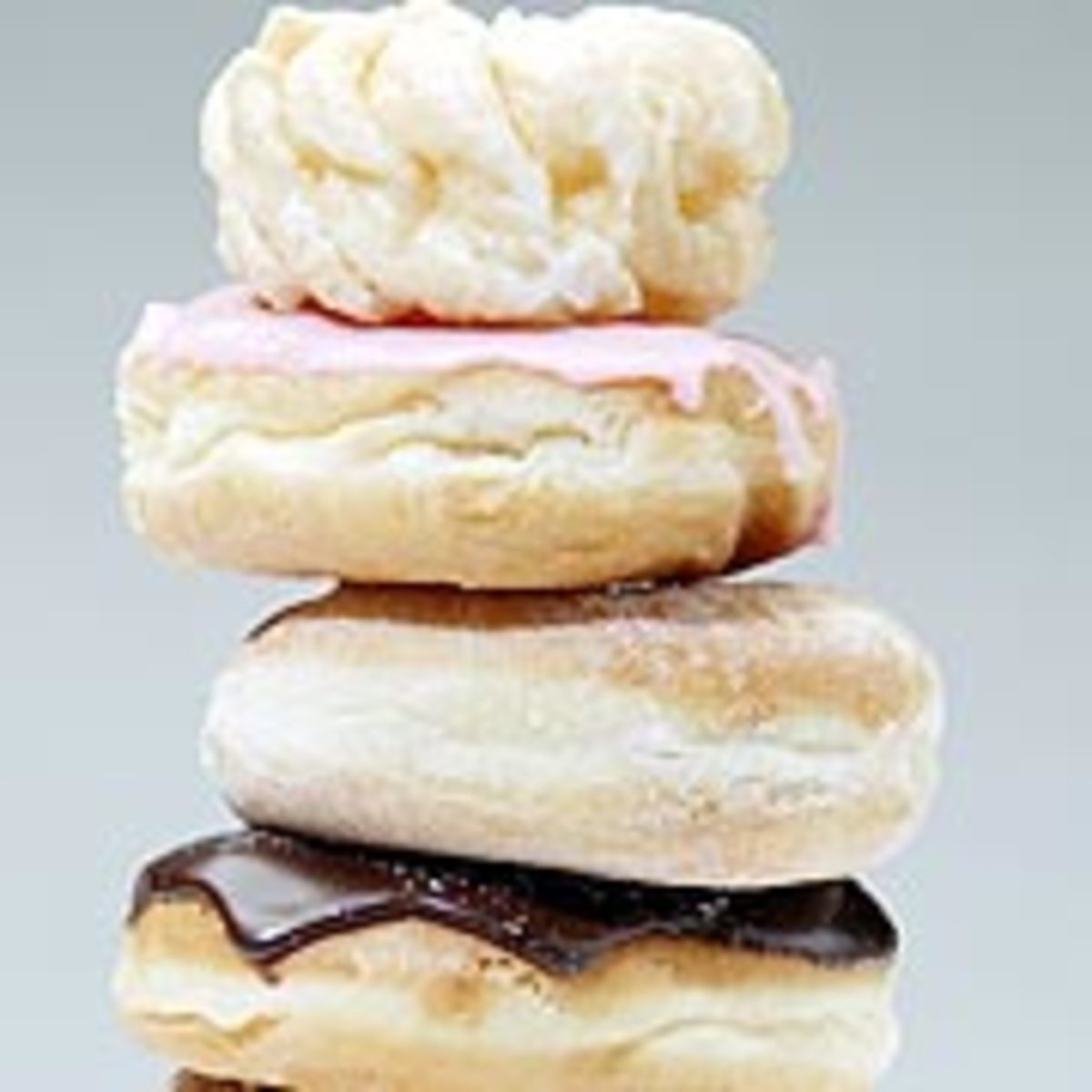 Jelly and creme-filled doughnuts