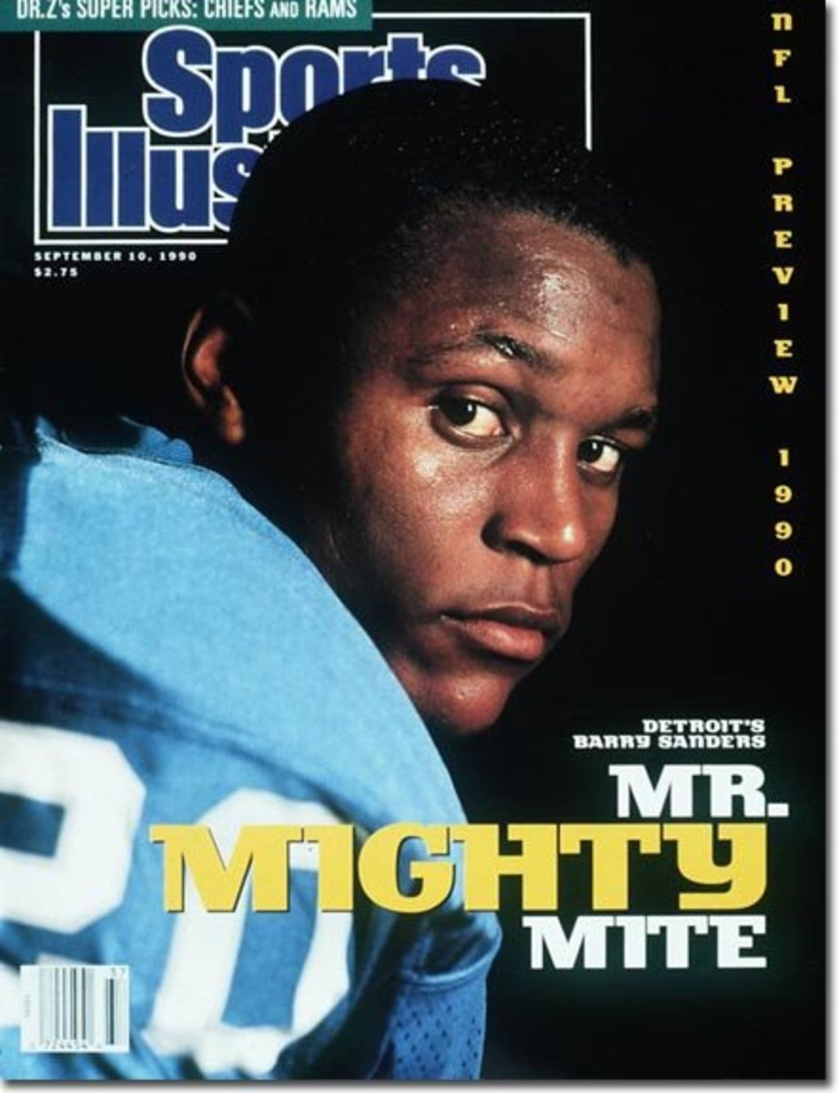On the Cover: Barry Sanders, Football, Detroit Lions Photographed by: Ronald C. Modra