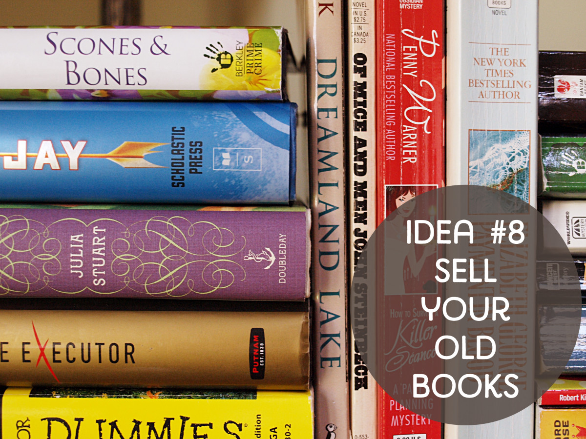 Sell your old books for extra cash.