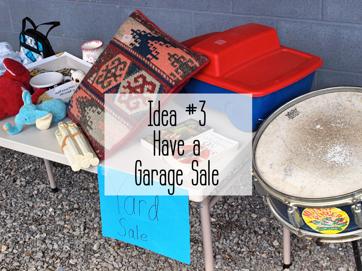 Garage sales are easy and fun.