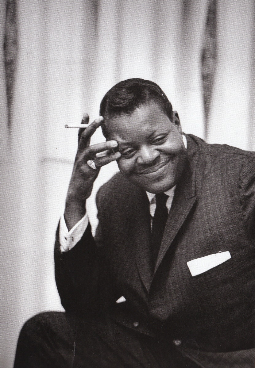 Oscar Peterson backstage at the Las Vegas Festival, 1962.