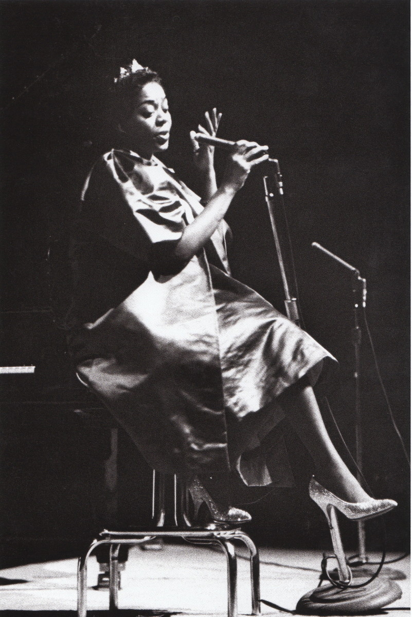 Dinah Washington at the Masonaic Auditorium, San Francisco, 1959.