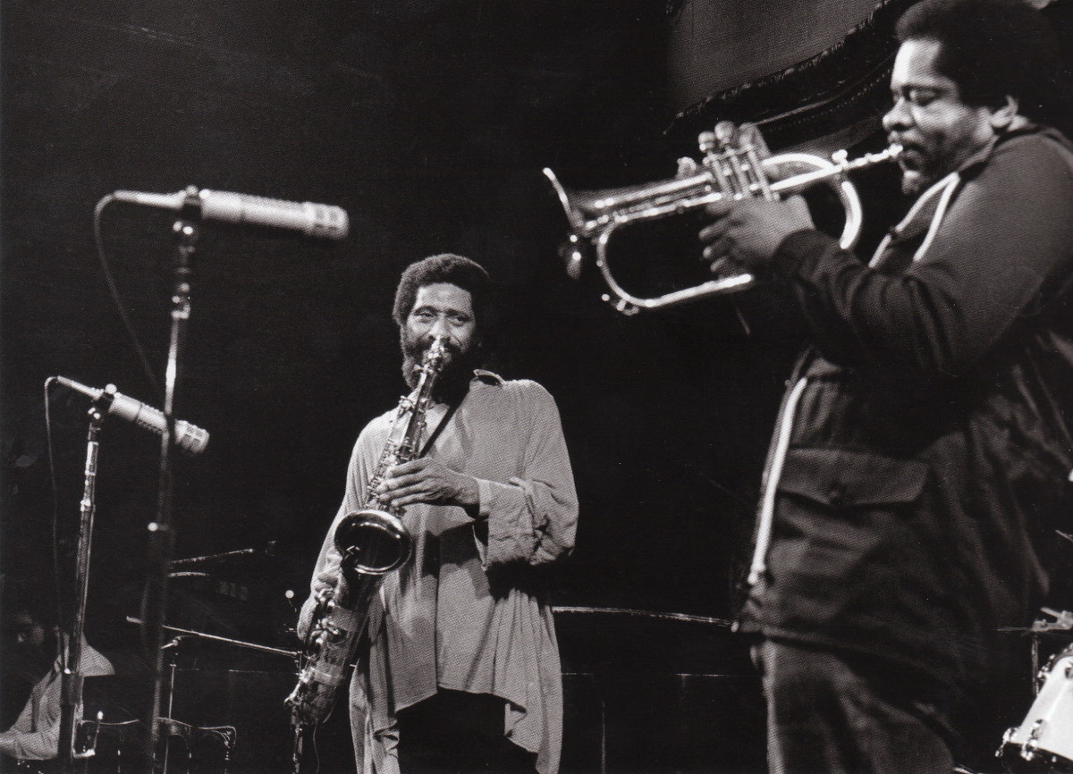 Sonny Rollins and Donald Byrd at the Great American Music Hall, San Francisco, early 1980s.