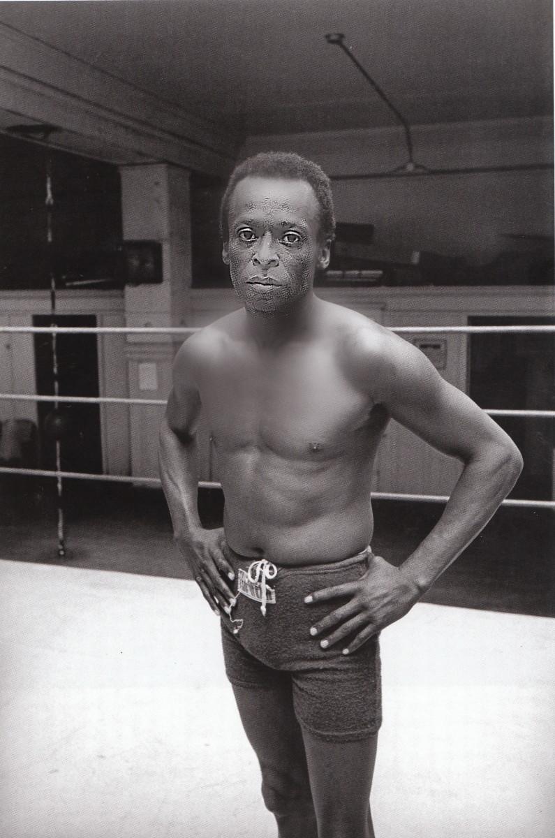 Miles Davis at Newman's Gym on Leavenworth Street in San Francsco, 1970.