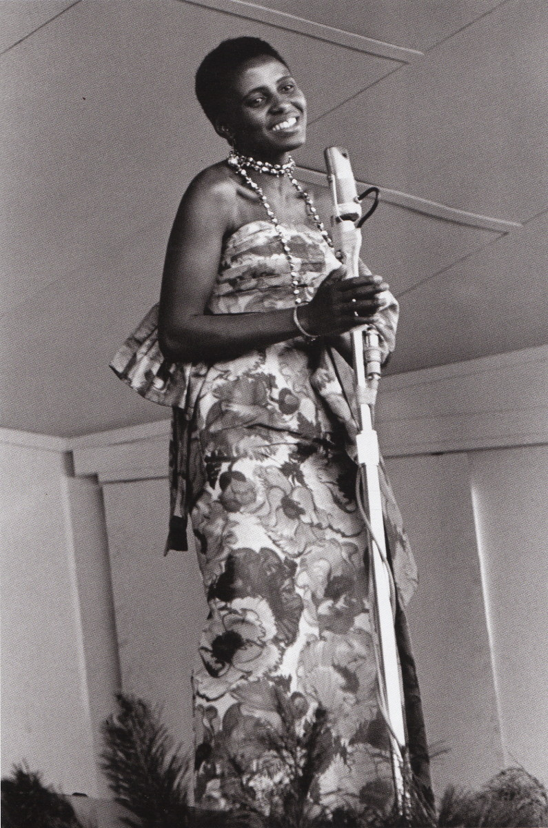 "Miriam Makeba at the Monterey Jazz Festival in 1960 singing ""Evolution of the Blues. She had just come from South Africa."