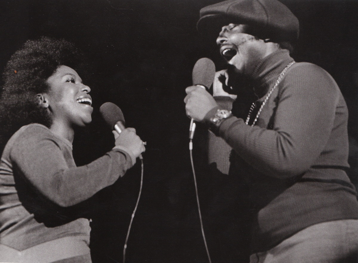 Roberta Flack and Donny Hathaway in 1972, in Berkeley.