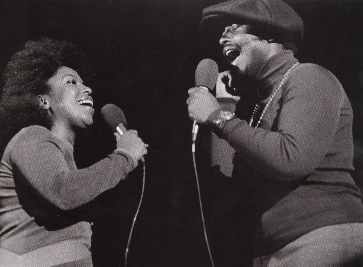 Roberta Flack and Donny Hathaway in 1972, in Berkeley.