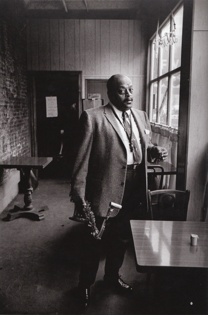 Ben Webster at the Five Spot on 8th Street in New York City, taken on a Sunday afternoon jam session in 1963.