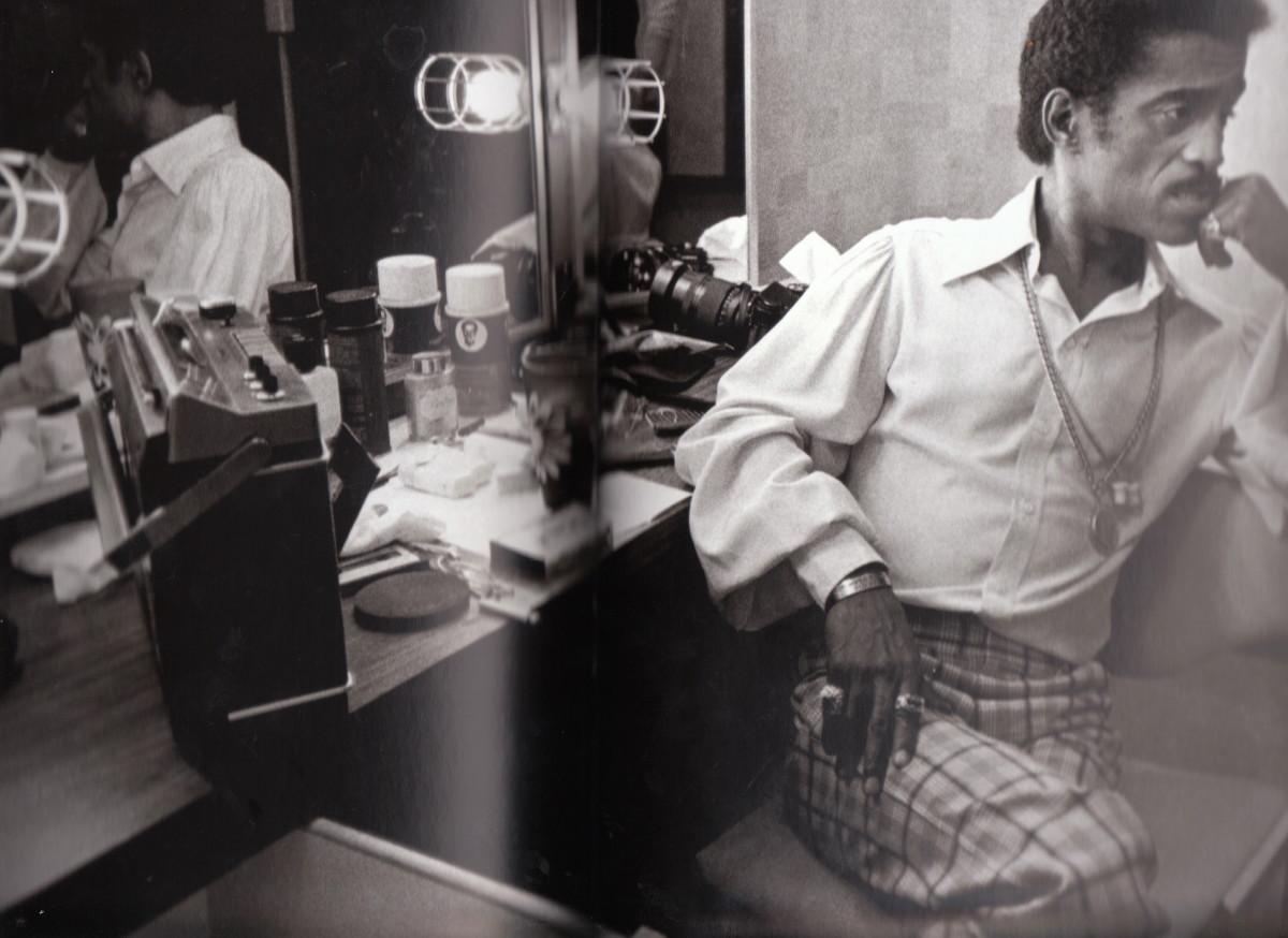 Sammy Davis Jr. backstage at the Duke Ellington tribute at CBS TV, Los Angeles, 1972.