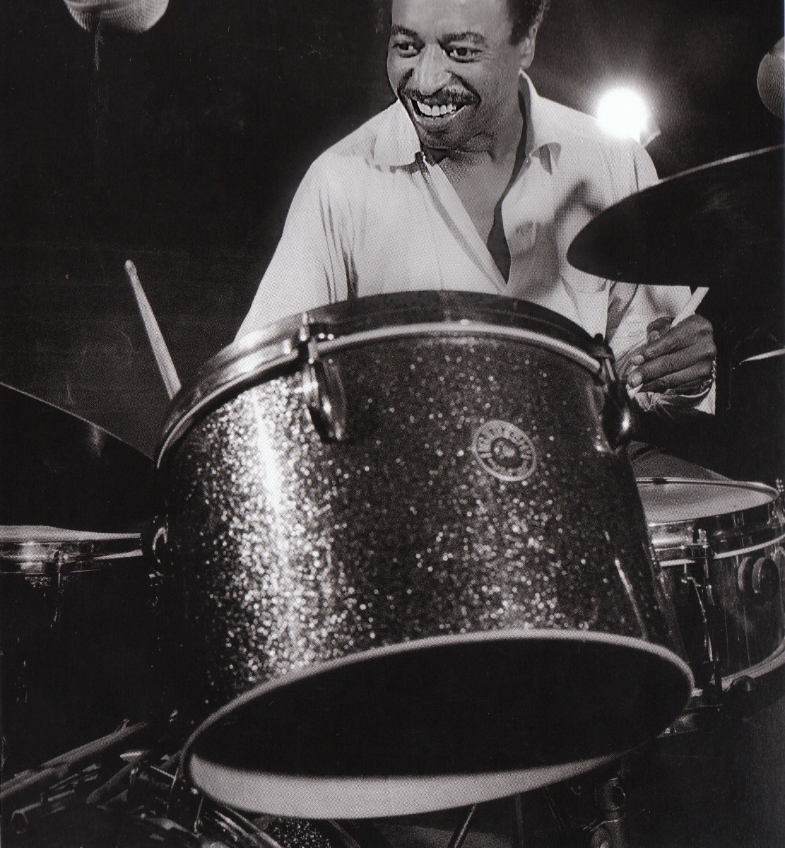 Chico Hamilton at a Rudy Van Gelder's studio recording session for Impulse!, New York City, 1963.