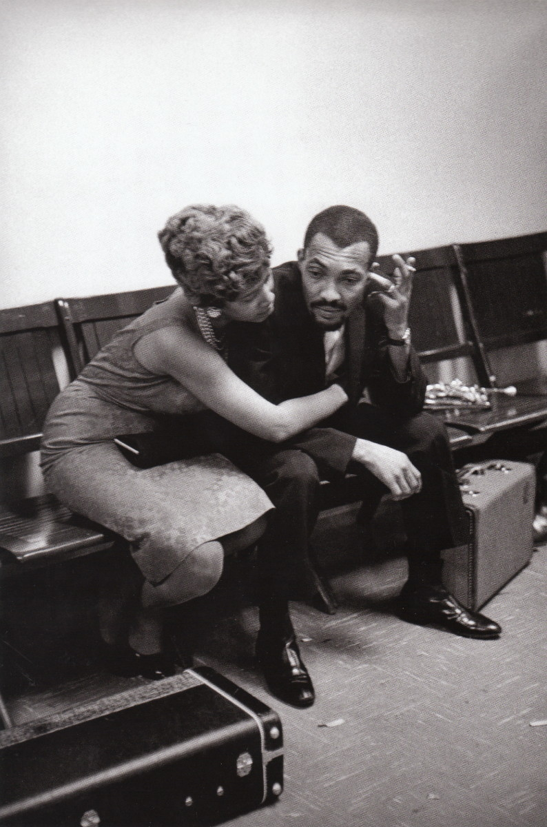 Hank Crawford backstage with a lady friend at the Oakland Coliseum, 1960.