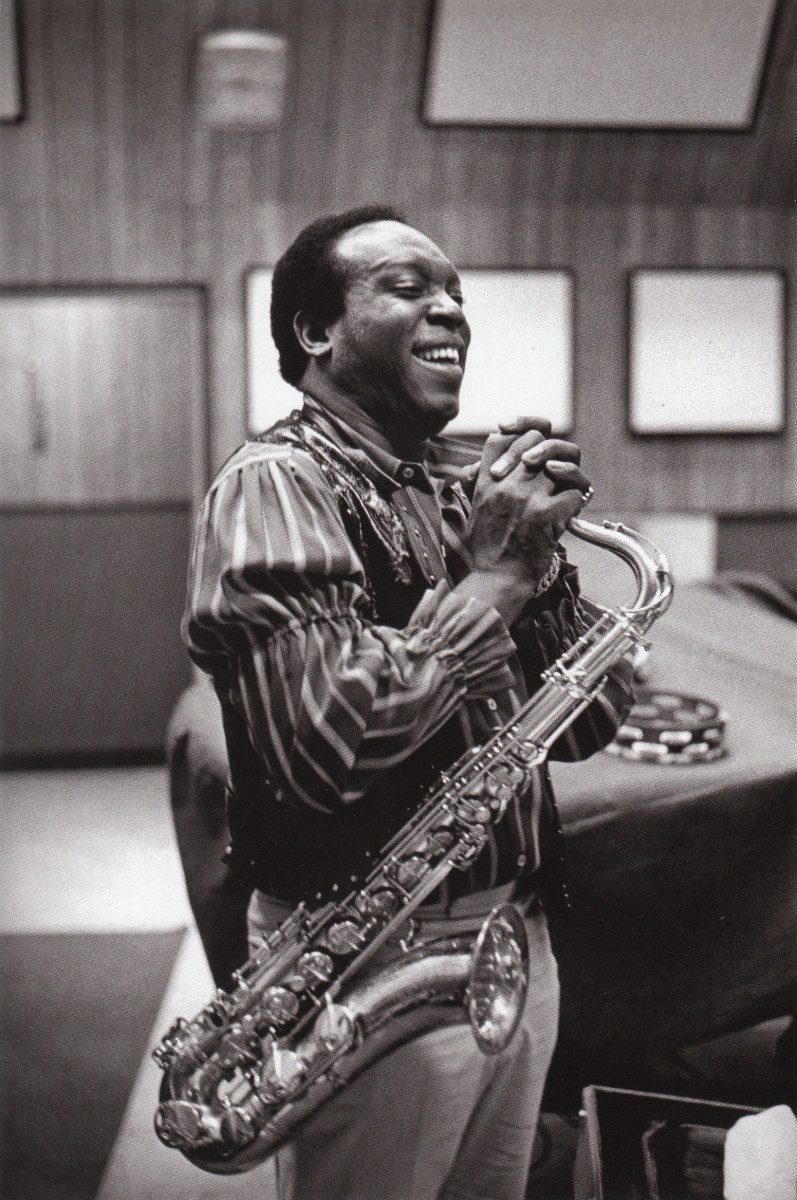 King Curtis at an Aretha Franklin recording Session  in either New York or Los Angeles. He was killed by being stabbed whilst trying to stop a fight between two Puerto Rican men.                                                   .