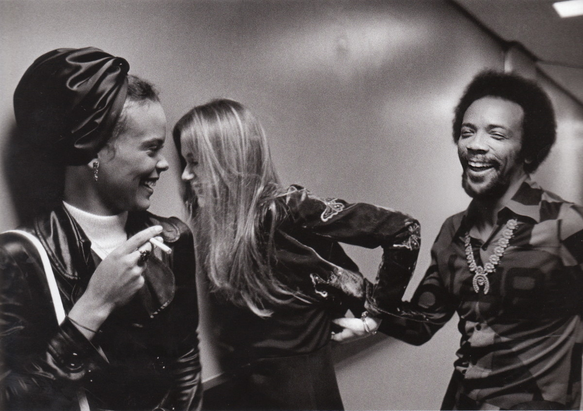 Quincy Jones and Peggy Lipton backstage at the Duke Ellington tribute at CBS TV studios, Los Angeles, 1972