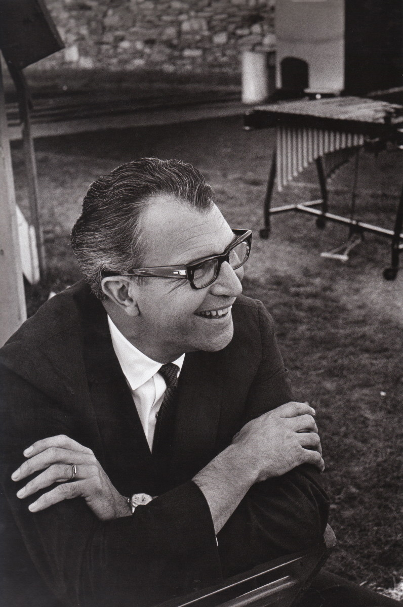 Dave Brubeck backstage at the New Port Jazz Festival, 1963.