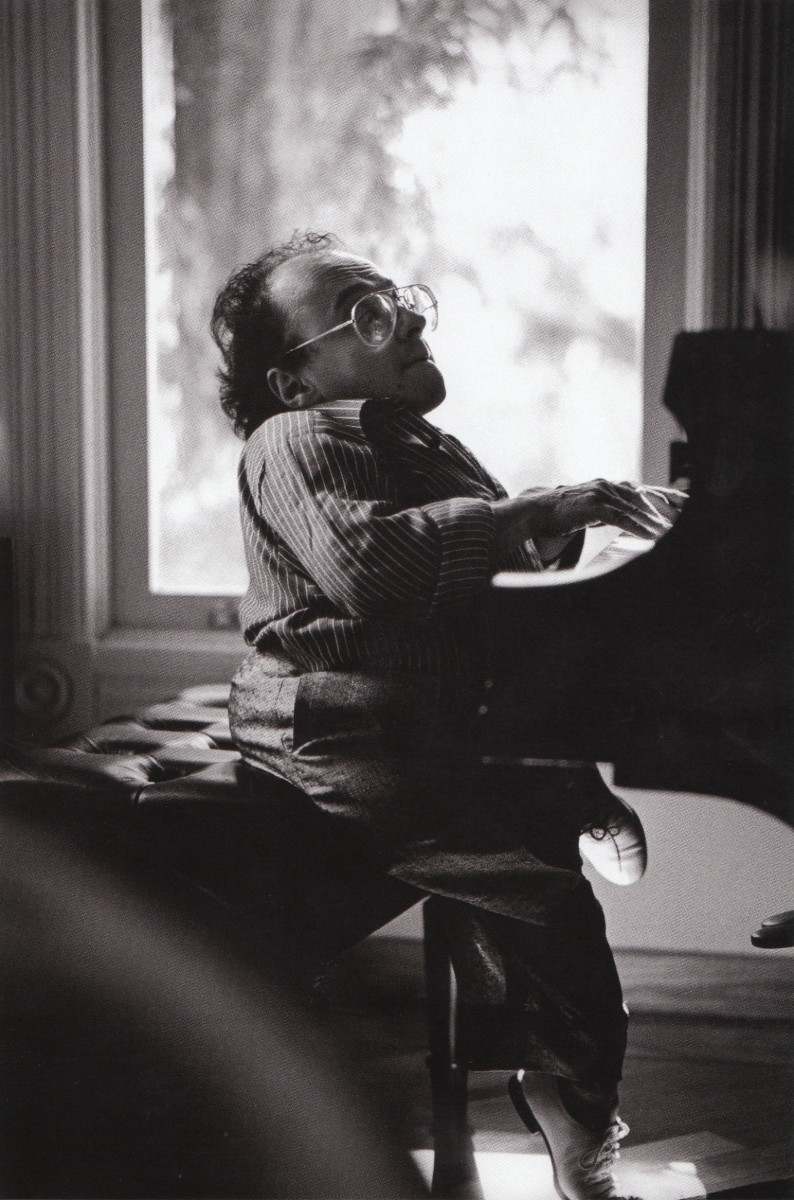 Michel Petruciani at Ken Schuberts house in the late 1980s. Michel was  dwarf and an incredible piano player. He accessed the pedals by placing blocks on them.