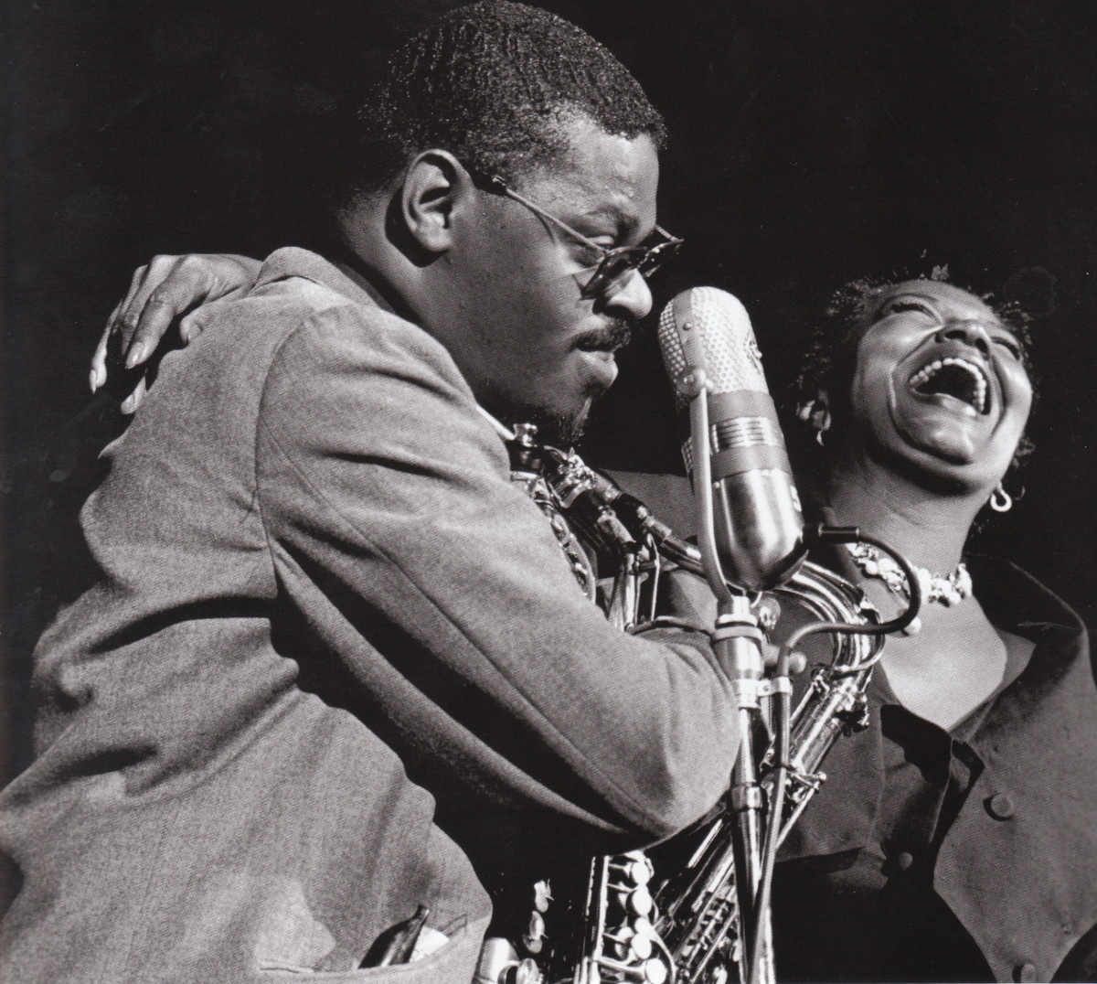 Rahsaan Roland Kirk and Pearl Bailey at the Las Vegas Jazz Festival.