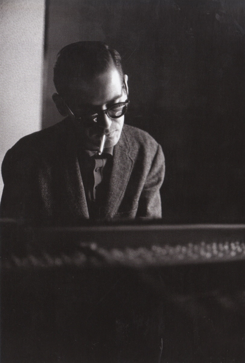 Bill Evans at a Riverside Records record session, New York,1963.