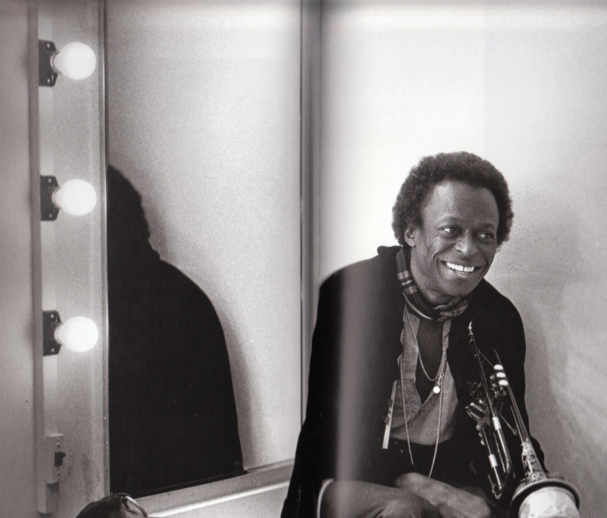 Miles Backstage at the Berkeley Community Theater, 1971.
