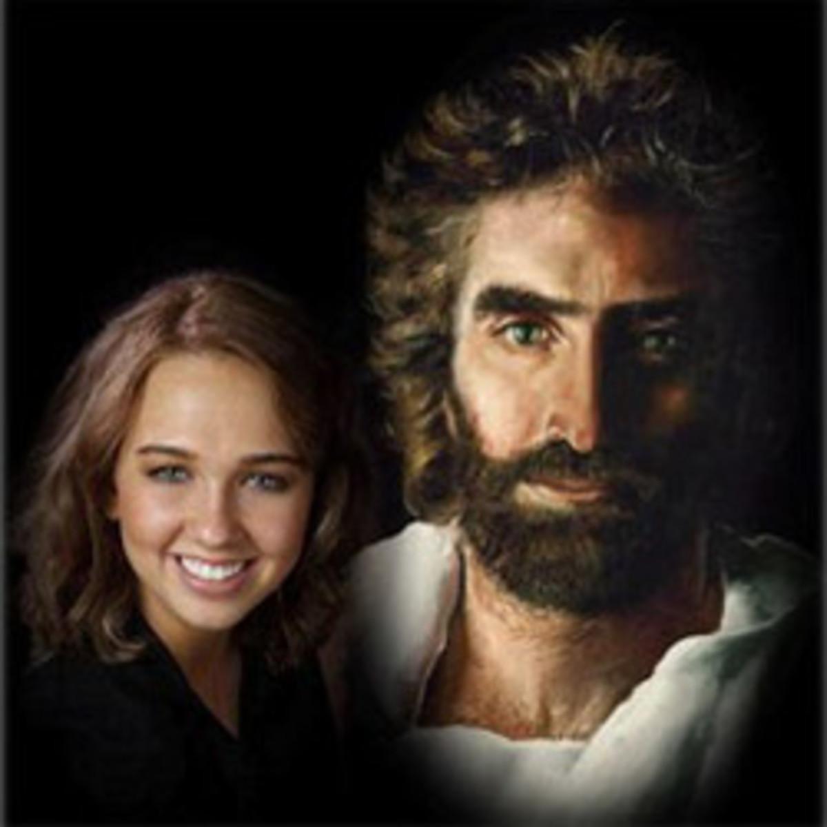 Akiane Kramarik and her artwork - photo of Jesus