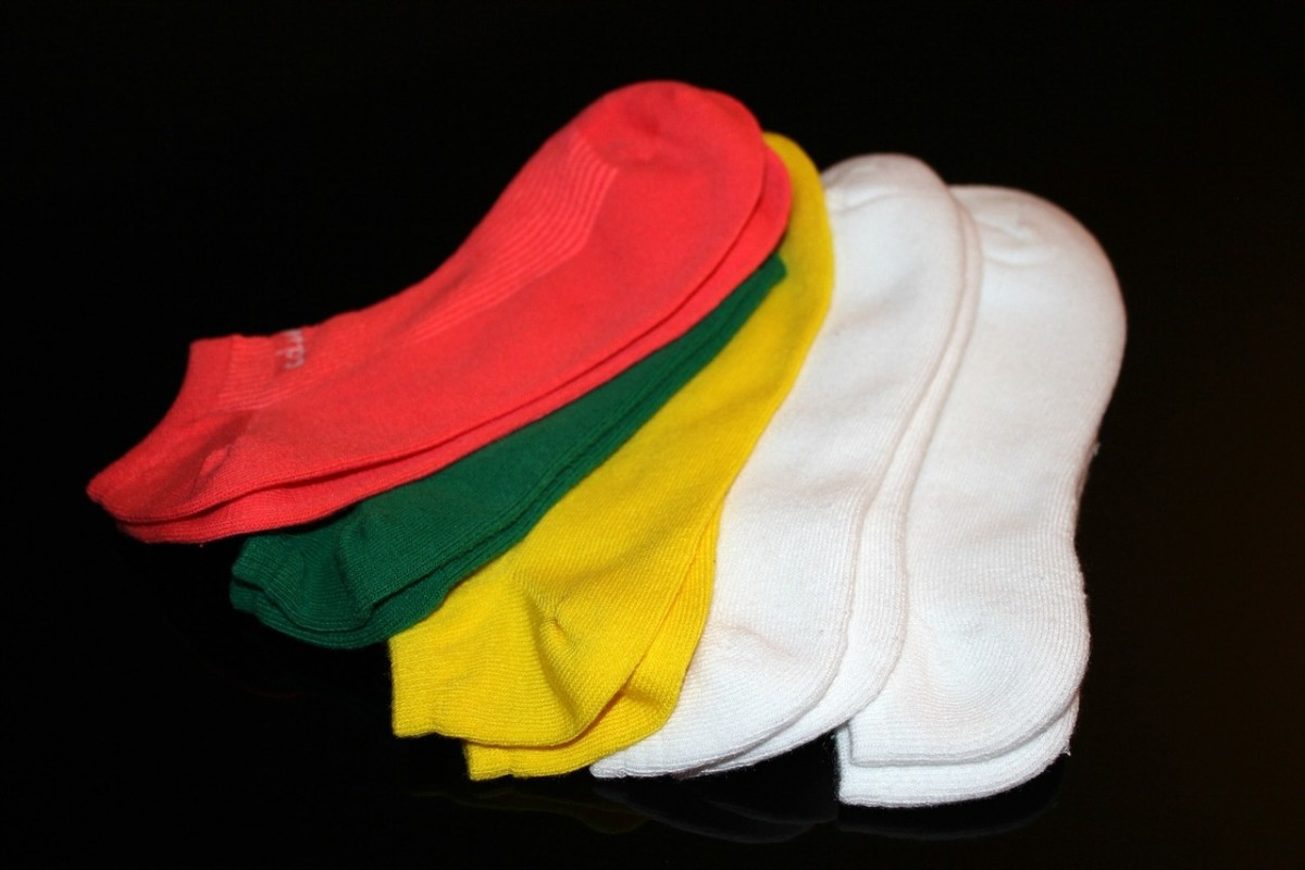 A laundry net or pillow case will keep your socks from going astray, as so often happens in the washing machine.