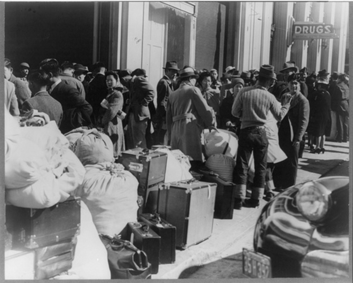 During WWII many American citizens of Japanese decent were interred in concentration camps after losing everything they owned.