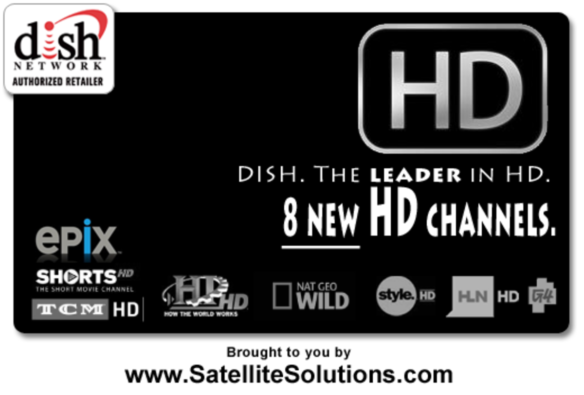 DISH Network launches 8 new HD channels!  EPIX, G4, HLN, History Int, NatGeo Wild, Shorts, TCM, & Style now in HD