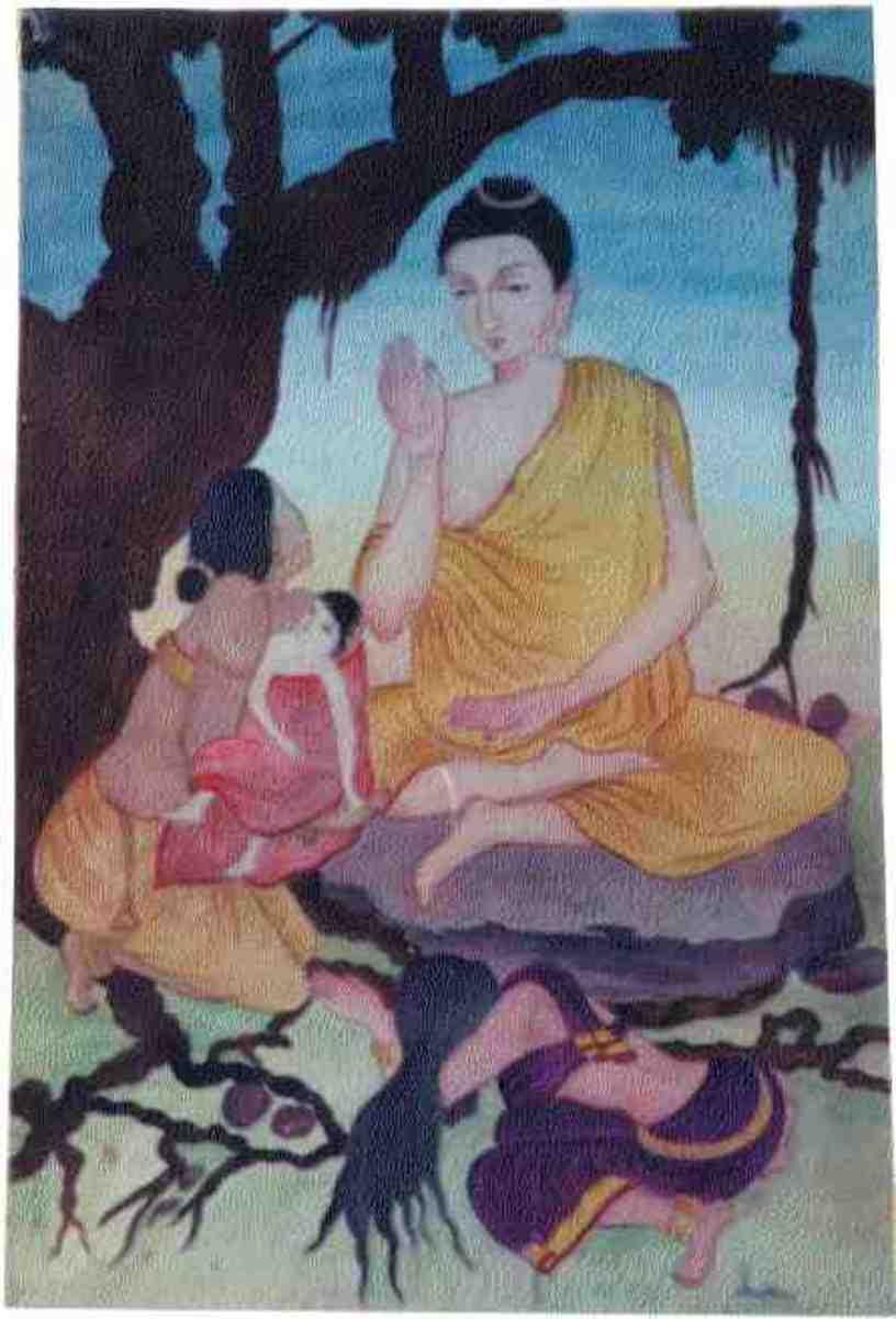 The Buddha teaching