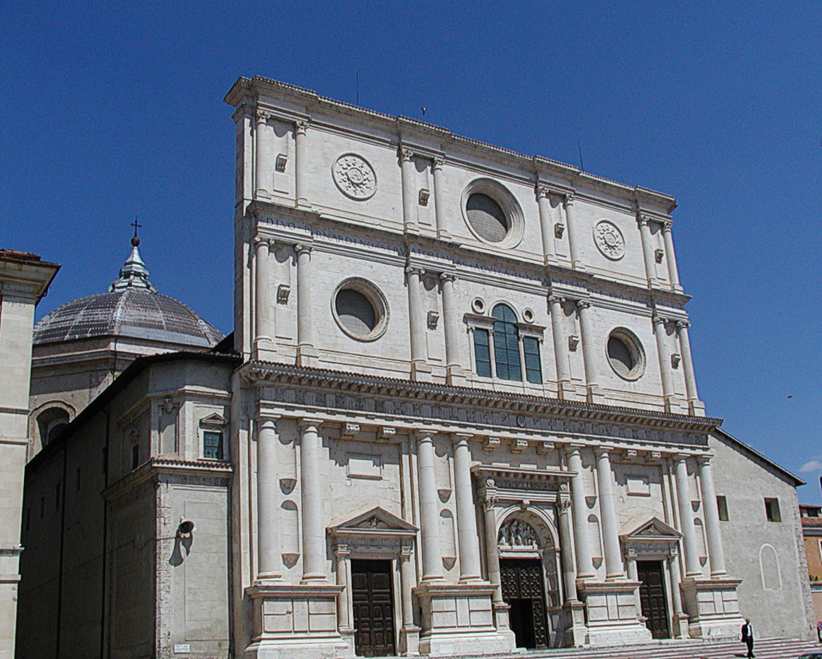 L'Aquila, church of Basilica di San Bernardino.