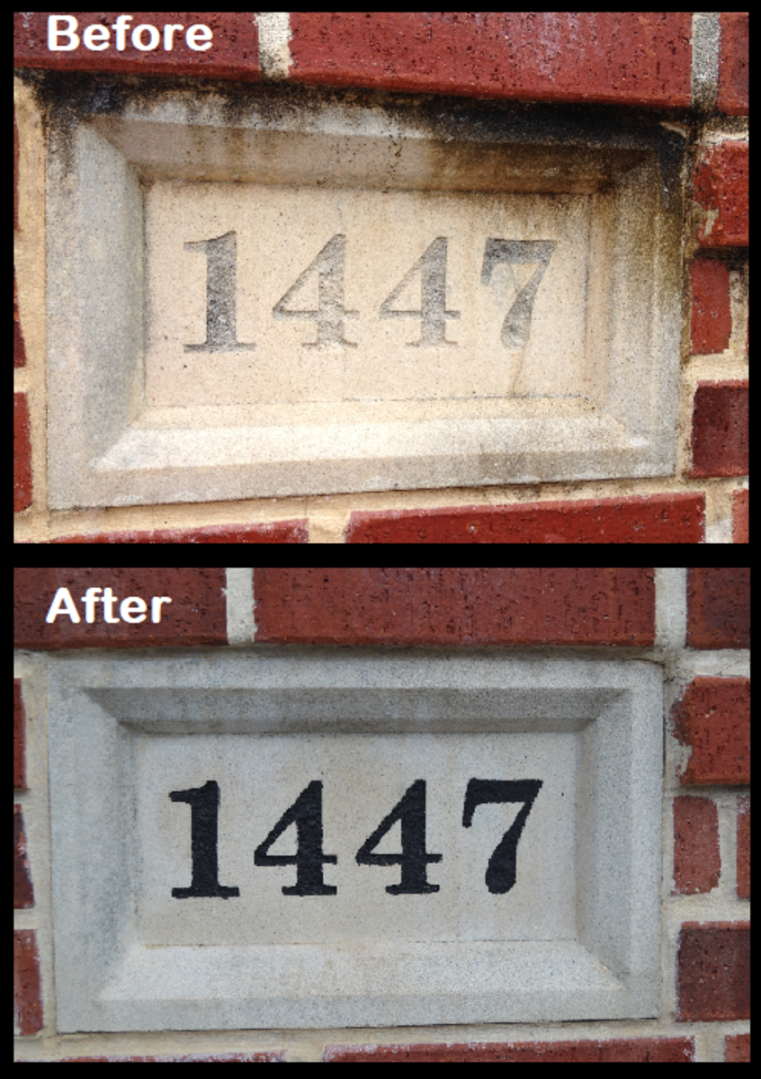 How to Restore & Repaint your Engraved Cast Stone Address Plaque